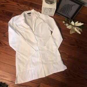 White Cherokee lab coat